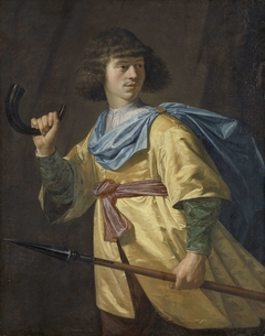 Portrait of a Young Man with a Javelin and a Hunting Horn