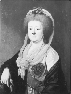 Portrait of Friederike von Anhalt-Zerbst (1744-1827), the last princess of the Zerbster line