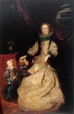 Portrait of Marquise Catarina Durazzo-Adorno with her children