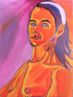 Portrait of Rebecca 11-08; 40inX30in; Oil over acrylic on canvas; Steve Hendrickson