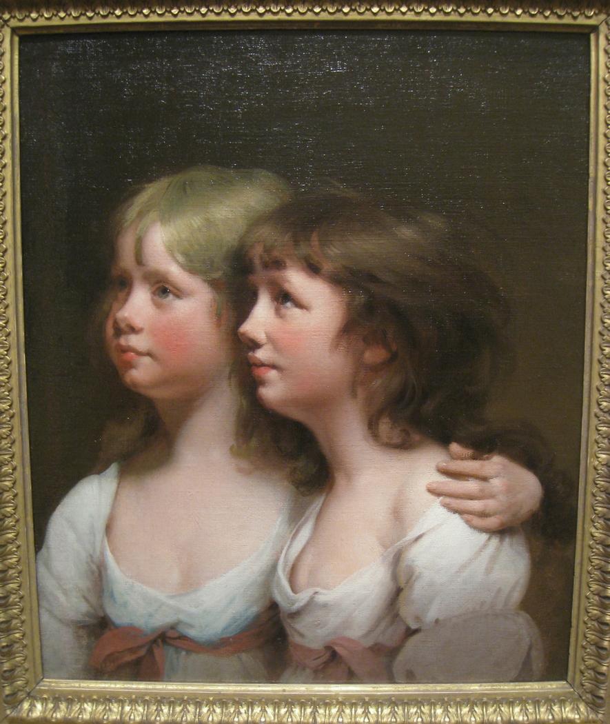Portrait of Sarah and Ann Haden