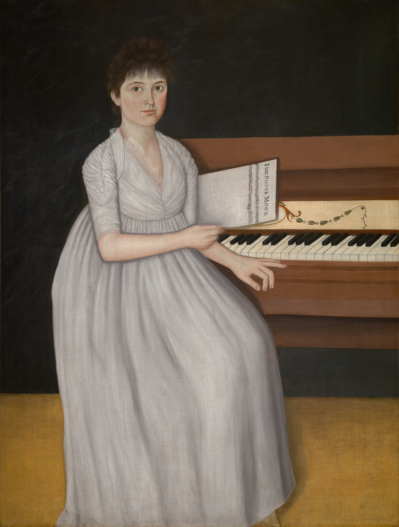 Portrait of Sarah Prince (also known as Silver Moon or Girl at thePianoforte)