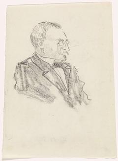 Portret van een heer, naar rechts