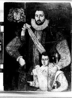 Portret van een man en zijn zoon