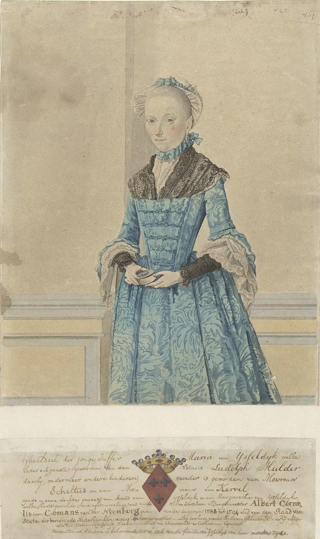 Portret van Maria van IJsseldijk, staand kniestuk