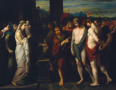 Pylades and Orestes Brought as Victims before Iphigenia