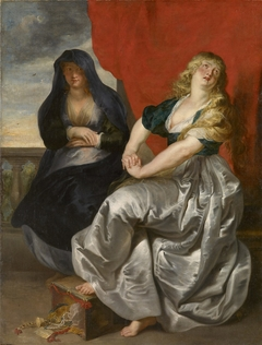 Reuige Magdalena und ihre Schwester Martha