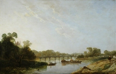 River Scene (Thames) with Eton Chapel (?)