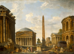 Roman Capriccio: The Pantheon and Other Monuments