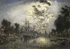 Rotterdam bij maneschijn