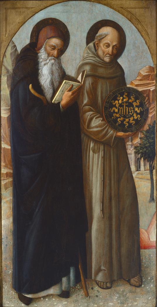 Saint Anthony Abbot and Saint Bernardino of Siena