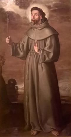 Saint François d'Assise avec un crucifix