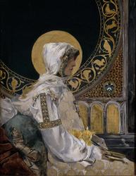 Santa en oración