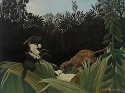 Scouts Attacked by a Tiger (Éclaireurs attaqués par un tigre)