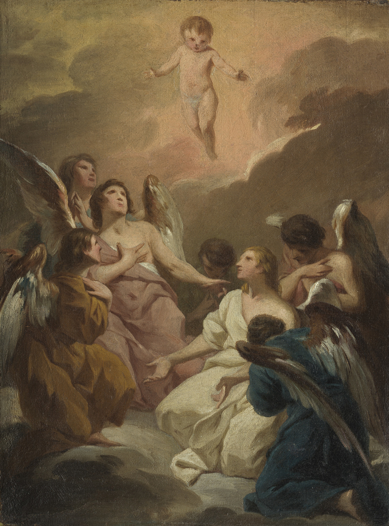 Seven Angels Adoring the Christ Child