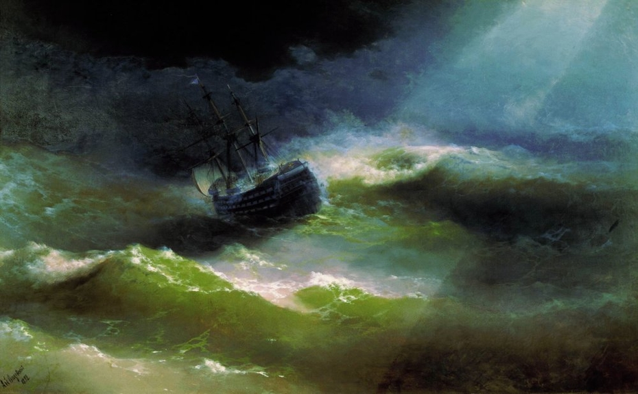 Ship ''Empress Maria'' in a Storm