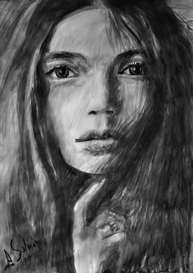 Silence. Portrait of a Young Woman.