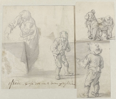 Six figures in different poses