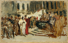 "Skizze zum Gemälde ""Arabische Kaufleute in Venedig"""