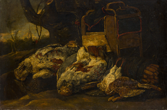 Still Life with Dead Birds, Cage and Net