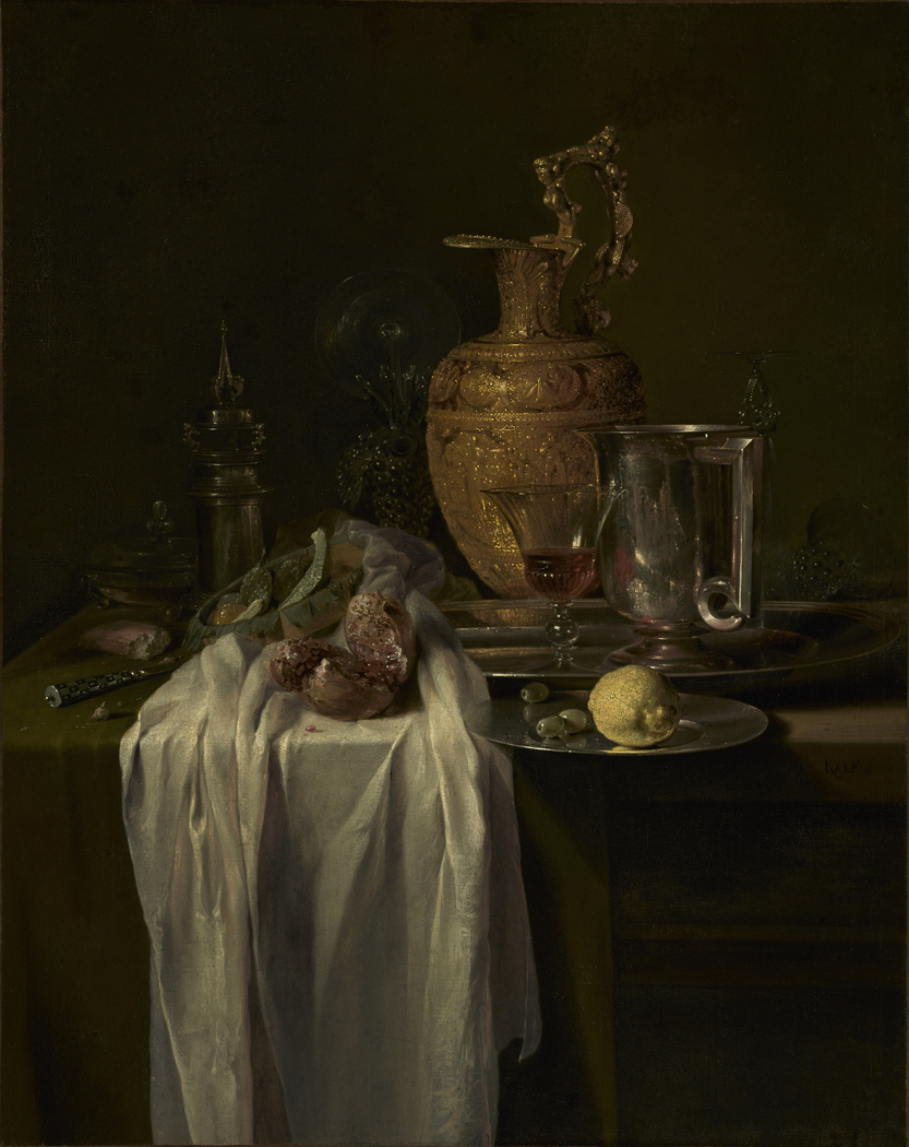 Still Life with Ewer, Vessels and Pomegranate