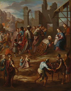 The Adoration of the Kings with Viceroy Pedro de Castro y Figueroa, Duke of La Conquista (La adoración de los reyes con el virrey Pedro de Castro y Figueroa, duque de La Conquista)