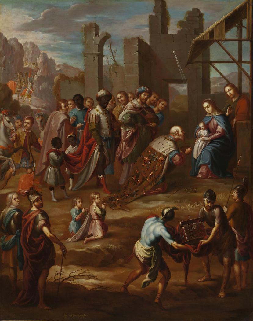 The Adoration of the Kings with Viceroy Pedro de Castro y Figueroa, Duke of La Conquista (La adoración de los reyes con el virrey Pedro de Castro y Figueroa, duque de La Conquista)