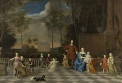 The Amsterdam Merchant Jeremias van Collen (1619-1707) with his Wife and their Twelve Children