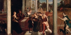 The Banquet of Dives. Copy after B. Veneziano