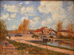 The Bourgogne Lock at Moret, Spring