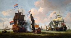 The Dutch Fleet in the Harbor of Amsterdam