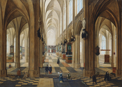 The Interior of Antwerp Cathedral by day