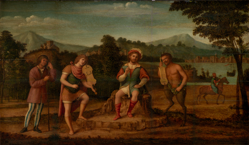 The Judgement of Midas. The Musical Contest between Apollo and Marsyas