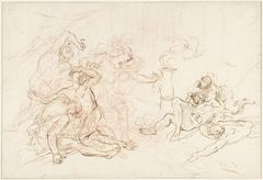 Theseus (?) doodt zijn vijanden