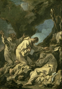 Three Camaldolese Monks in Ecstatic Prayer