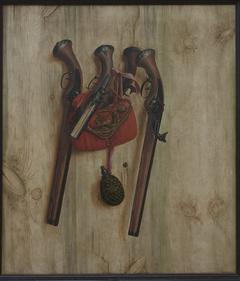 Trompe l'Oeil with Pistols