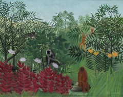 Tropical Forest with Monkeys