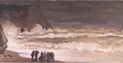 Heavy Sea in Étretat