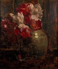 Ginger jar with tulips