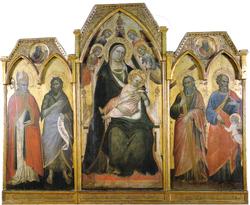 Trittico della Madonna in Trono e Santi