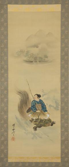 Urashima Tarō Riding on a Tortoise
