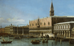 Venice: The Molo with the Prisons and the Doges' Palace