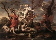 Vénus présente à Énée les armes forgées par Vulcain