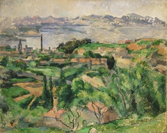 View of the Bay of Marseille with the Village of Saint-Henri
