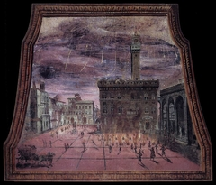 View of the Piazza Signoria with Fireworks on St John's Day