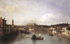 View of Verona and the River Adige from the Ponte Nuovo