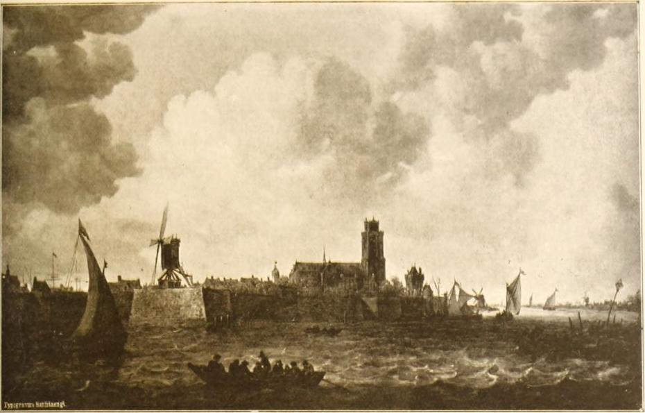 View over the Merwede towards Dordrecht