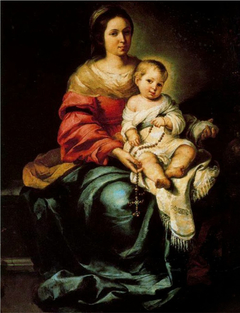 Virgin and Child, with rosary