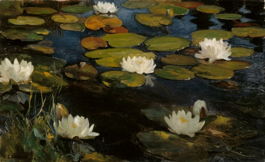 Water Lilies, Study for the Youth and a Mermaid
