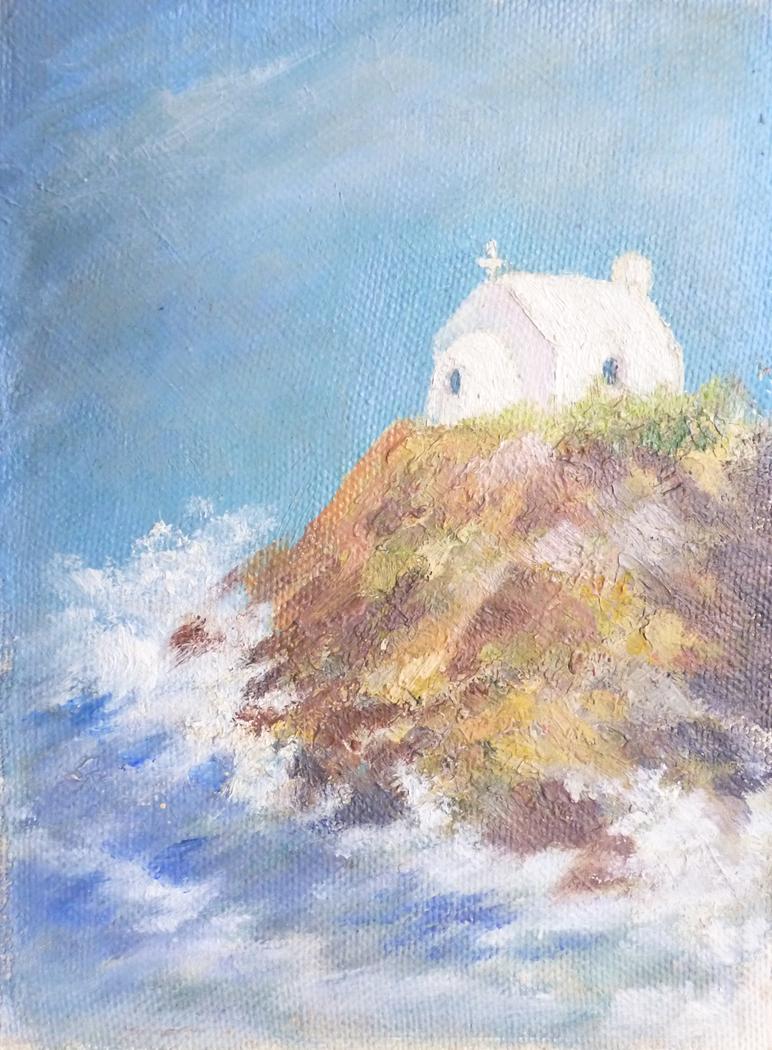 whitewashed chapel